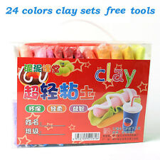 480g 24 colors Super-Light Clay sets DIY Fimo Polymer Modelling toys free tools