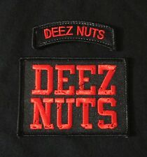 DEEZ NUTS USA ARMY BADGE MORALE BLACK OPS RED 2 SET VELCRO® BRAND FASTENER PATCH
