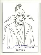 Topps Star Wars Galactic Files 2 Artist Sketch Card 1/1 By Artist LAK LIM