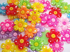 15 x 3D flower cabochons, card making, Scrapbooking,