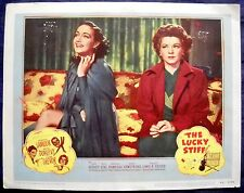 THE LUCKY STIFF MOVIE POSTER! Dorothy Lamour/Claire Trevor-1948