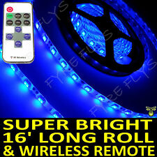 Blue Boat Accent Light Waterproof LED Lighting Strip 16 ft/5M & Wireless Remote