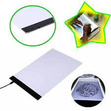 Portable Boîte A4 LED Stencil Light Board Tracing Table Dessin Pad + câble USB