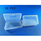 10 x Clear White Nintendo Game Cartridge Case for Game Boy GBA SP