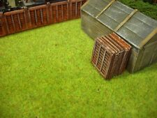 OO Model Railway. Wooden Fence panels. Stacked. resin model. 2 stacks of 6 .
