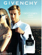 PUBLICITE ADVERTISING 1016  2014   Givenchy parfum homme Simon Baker Only