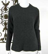 J. CREW NWT 100% WOOL LONG SLEEVE SWEATER SIZE S, GRAY