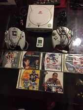 Sega Dreamcast System Console Lot With Six Games!!
