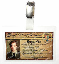Professor Remus Lupin ID Badge Harry Potter Hogwarts Cosplay Prop Halloween