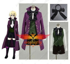 Black Butler II 2 Alois Trancy Cosplay Costume Purple Coat Custom New