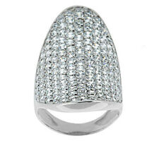 VicenzaSilver Sterling Silver 4.45 cttw Diamonique Vicenza Ring Size 5 QVC $206