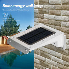 Solar Powered 20 LED PIR Motion Sensor Bright Wireless Security Shed Wall Light