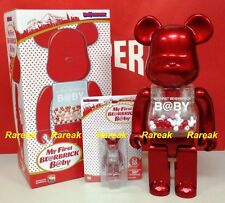 Medicom 2016 Be@rbrick My First Baby 400% & 100% Light Red SJ50 Bearbrick Set 2p