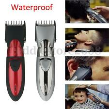 Waterproof Rechargeable Electric Hair Cut Clipper Trimmer Mens Shaver Body Beard