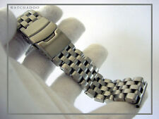 22mm Heavy Steel Watchadoo Brushed Divers Band Bracelet ~ incl. 2.5mm FAT bars