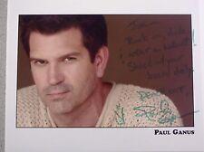 PAUL GANUS HAND SIGNED 8x10 COLOR AUTOGRAPH PHOTO