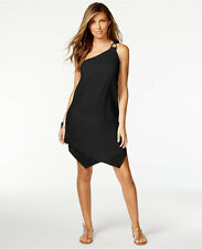 NWT Michael Kors Swimsuit Cover Up Dress Tunic Size S Gauze One-shoulder Layered