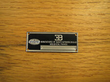 Bugatti Metal Display Plaque Diecast 1/24 1/18 1/43 Veyron EB110 Type 57 CMC 37