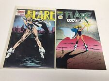 FLARE #1 FIRST EDITION & FLARE ANNUAL #1 (HERO GRAPHICS/0815303)  SET LOT OF 2