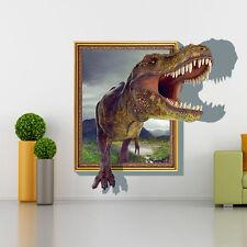 Wandtattoo Wandbild  Kinderzimmer Dinosaurier Tyrannosaurus  Sticker 3D Neu