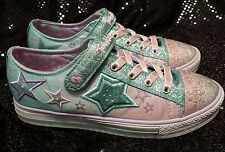 NEW SKECHERS TWINKLE TOES Girl's ENCHANTERS Glitter Shoes Light-Up Size 3 $65