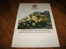 TATRA Military Trucks Range Brochure Prospekt Catalogue