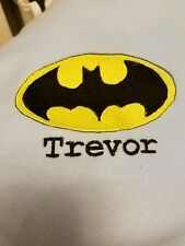 Personalized Embroidery Baby Fleece Blanket With Batman