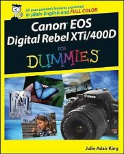 Canon EOS Digital Rebel XTi / 400D For Dummies, King, Acceptable Book