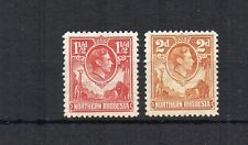 Northern Rhodesia 1938-52 1 1/2d and 2d MM