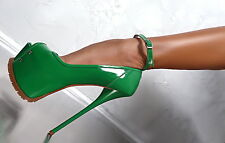 1969 HAND MADE IN ITALY SEXY SKY HIGH HEELS E54 DAMEN PUMPS SCHUHE ECHT LEDER 40