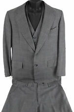 HICKEY FREEMAN Customized MENS 3 Piece STARCHED Suit GRAY Mens Suit 38