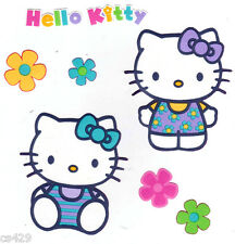 "4"" HELLO KITTY SANRIO & FLOWERS CHARACTER  PREPASTED WALL BORDER CUT OUT"