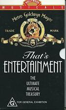 MGM  That's ENTERTAINMENT  THE ULTIMATE MUSICAL TREASURY 1-3   (VHS)   VERY RARE