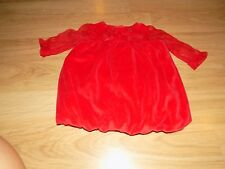 Infant Size 6 Months Baby Starters Red Velour Bubble Hem Christmas Holiday Dress