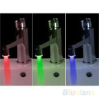 Chic Temperature Sensor LED Light Water Faucet Tap 3 Color RGB Glow Shower B54U