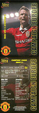 FUTERA 1998 MANCHESTER UNITED 3 JUVENTUS 2 CAMPAIGN EUROPE CARD NUMBER 86