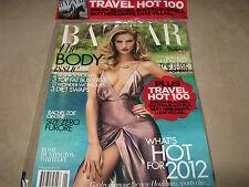 NEW! HARPER's BAZAAR UK January 2012 ROSIE HUNTINGTON-WHITELEY + TRAVEL HOT 100
