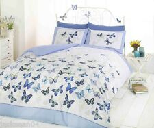 SUPERB TRENDY FUNKY COTTON BUTTERFLY BLUE KING SIZE DUVET SET QUILT COVER