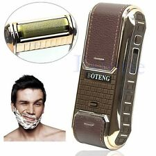 Professional Rechargeable Built-in Mirror Men's Cordless Electric Shaver Razor