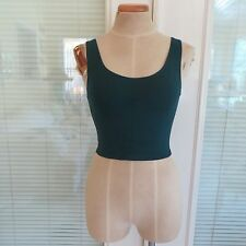 *NEW* BDG Urban Outfitters Dark Green Sleeveless Tank Crop Top. XS