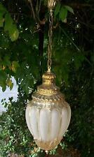 Antico elegante lampione lampadario cristallo e ottone dorato ideale x ingresso