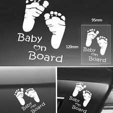 Vinly BABY ON BOARD Stickerw Footprint for Car Window Sticker Decoration Useful