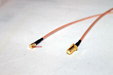"12"" RG316 MCX Male RIGHT Angle to SMA Female plug RF Pigtail Jumper Cable; US"