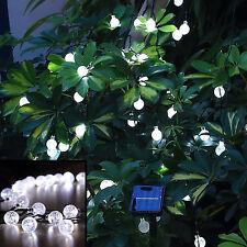 Luces solares del jardín Hadas Innoo Tech 30 bombillas LED blanco Bola de Cristal Decoración
