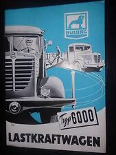 Prospekt Sales Brochure Büssing Typ 6000 LKW Truck Camion Technisches Motor