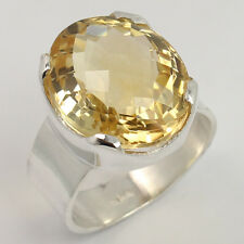 925 Sterling Silver Ring Size US 6.5 Natural CITRINE Gemstone Wholesale Supplier