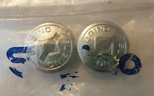 Vintage NOS Sugino Plastic Chrome MAXY CROSS Old School BMX Dust Caps 20 24 26