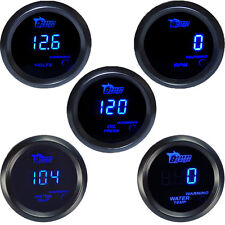 "2"" 52mm Car Universal Digital Water Oil Temp Volt Tacho Gauge Meter Blue LED"
