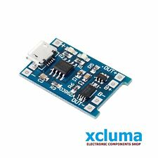 MICROUSB 5V 18650 LITHIUM BATTERY 1A CHARGING MODULE w TP4056 PROTECTION BE0001