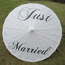 Just Married Parasol Umbrella Wedding Bridal Party Venue Decoration Favors